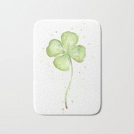 Clover Four Leaf Lucky Charm Green Clovers Bath Mat