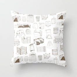 Cover, Contain, COMPOST- 1 of 3 Throw Pillow