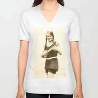 ursula V-neck T-shirts featuring Ursula by Julia Kathryn