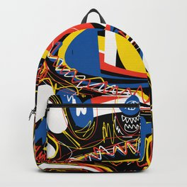 The Third Eye Primitive African Art Graffiti Backpack