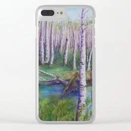 Crossing the Swamp WC151101-12 Clear iPhone Case