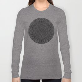 Zen Black and white Mandala Long Sleeve T-shirt