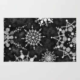 Gray Snowflakes Rug