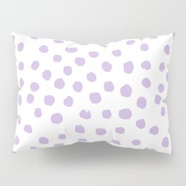 Dots painted polka dot pattern minimal lavender nursery basic minimalist Pillow Sham