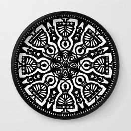 Polish Papercut Dancers Black Wall Clock