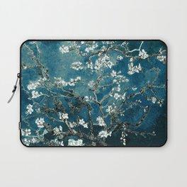 Van Gogh Almond Blossoms : Dark Teal Laptop Sleeve