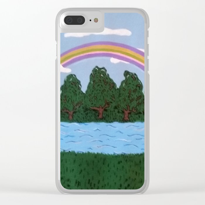 Rainbow of Hope Clear iPhone Case