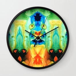 The Wedding - Abstract Art By Sharon Cummings Wall Clock