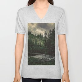 Pacific Northwest River - Nature Photography Unisex V-Neck
