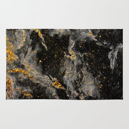 Galaxy (black gold) Rug