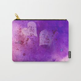 Spatters on my purple hearts Carry-All Pouch