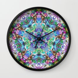 Five Points of Color Abstract Wall Clock