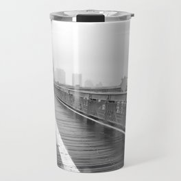 Brooklyn Bridge and Rain Travel Mug