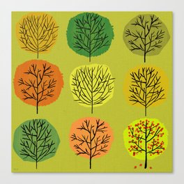 Tidy Trees All In Pretty Rows Canvas Print
