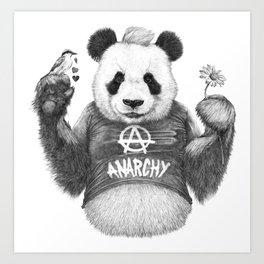 Punk Panda Art Print