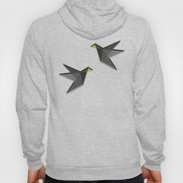 Black and White Paper Cranes Hoody