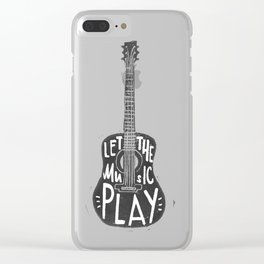 Let the music play Clear iPhone Case