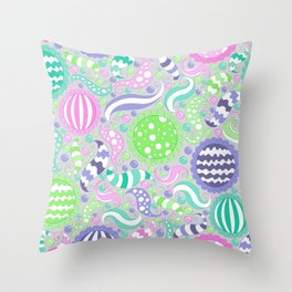 Candy Store Pattern Print Throw Pillow