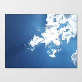 Clouds and Sun Beams Canvas Print