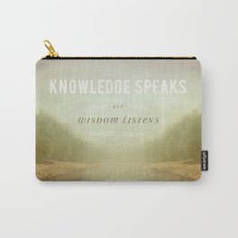 Knowledge Speaks Carry-All Pouch