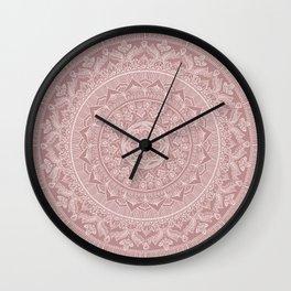 Mandala - Powder pink Wall Clock