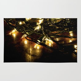 white lights - christmas Rug