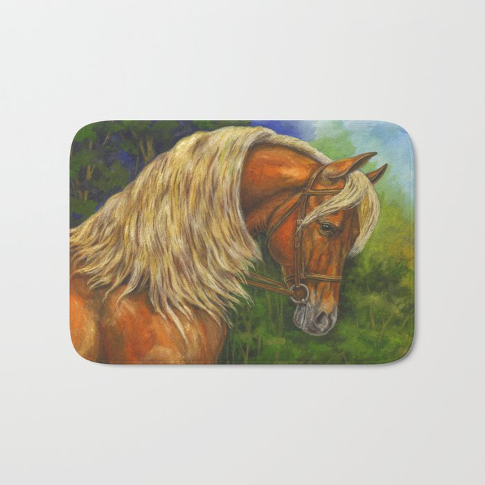 Sorrel Horse with Light Mane Bath Mat