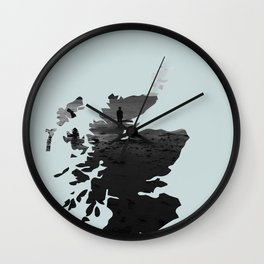 'Wandering' Scotland map Wall Clock