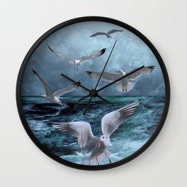 Gulls' Banquet Wall Clock