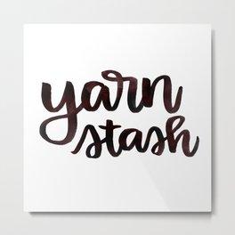 Yarn Stash - Brown Metal Print