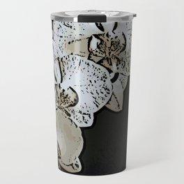 Orchid Woodcut Travel Mug