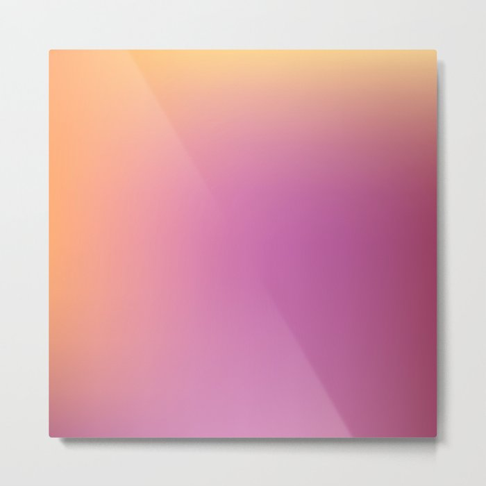 Blurred background with pink and yellow colors Metal Print