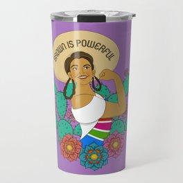 Brown is Powerful Travel Mug
