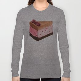 Raspberry Ice Cream Cake Slice Long Sleeve T-shirt