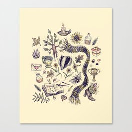 Hufflepuff, Loyal and True Canvas Print