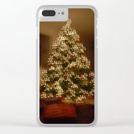 """Christmas Tree - """"M"""" for Mom Clear iPhone Case"""