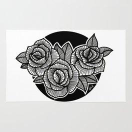 Line Work Rose Trio Rug