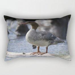 Common Merganser Rectangular Pillow