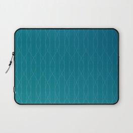 Wave pattern in teal Laptop Sleeve