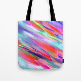 Colorful digital art splashing G399 Tote Bag