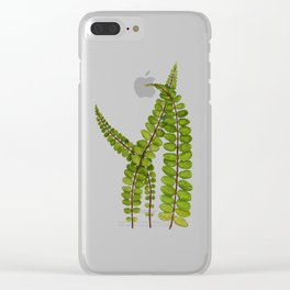 Fern 3 Painting Clear iPhone Case