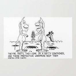 Fresh - Aliens - Cartoon - Drawing Rug