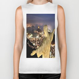 Christ the Redeemer ✝ Statue  Biker Tank