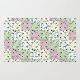 Pajama'd Baby Goats - Small Patchwork Rug