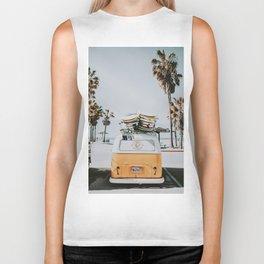 lets surf / venice beach, california Biker Tank