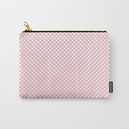 Rose Shadow and White Polka Dots Carry-All Pouch