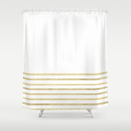 gold and white striped shower curtain. White and Gold Stripes Shower Curtain Goldleaf Curtains  Society6