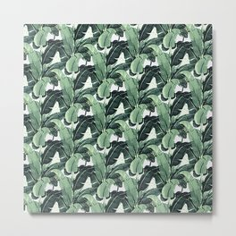 Tropical Banana Leaf Metal Print