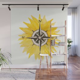 Compass  Sunflower Wall Mural
