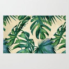 Tropical Island Republic Green on Linen Rug